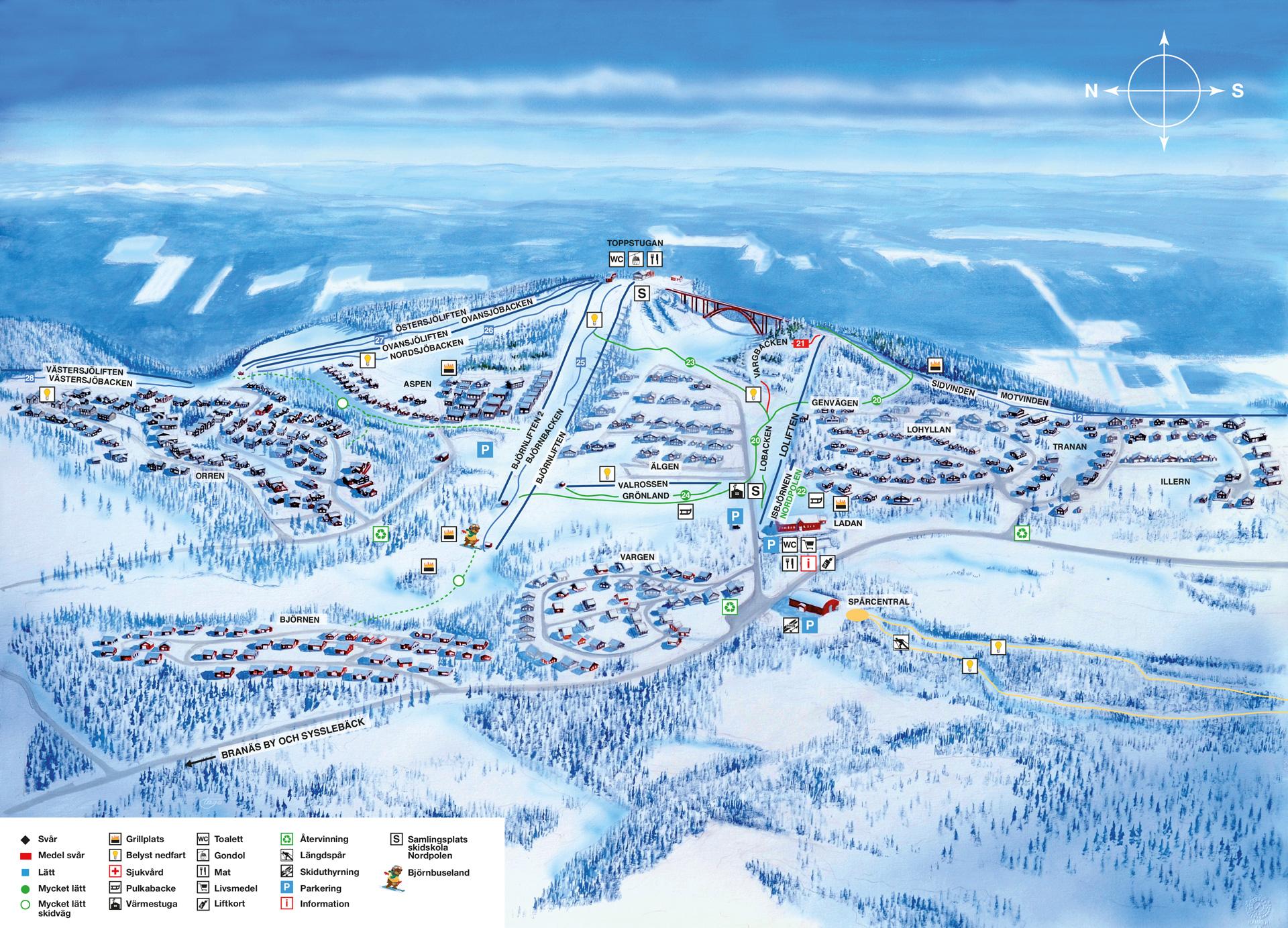 branäs karta sverige Pistkartor | Cubile Branäs branäs karta sverige